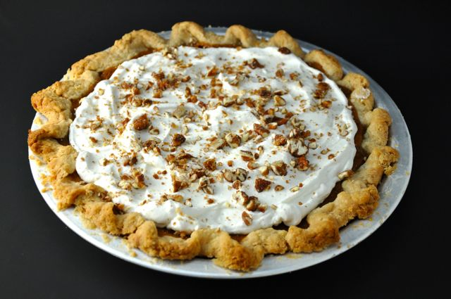 Sweet Potato Pie with Whipped Cream Topping